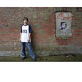 Boy, Youth, Wall