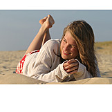 Young woman, Holiday & travel, Summer, Lying