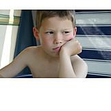 Boy, 3-8 Years, Sulking