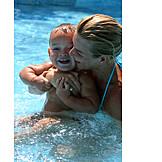 Mother, Bathing, 1 child