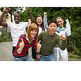 Jugendliche, Erfolg & Leistung, Gruppe, Multikulturell