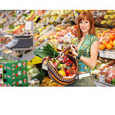 Young Woman, Healthy Diet, Purchase & Shopping