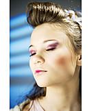 Beauty, Young Woman, Woman, Dreams, Seductive, Lipstick, Dreaming, Skin, Make Up