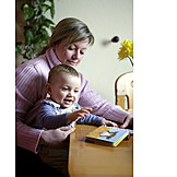 Parent, Mother, Reading, Son, Picture book, Storytelling