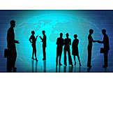 Silhouette, International, Globalization, Business person, Business life