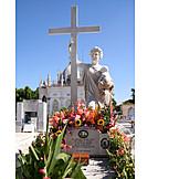 Child, Mother, Cross, Grave