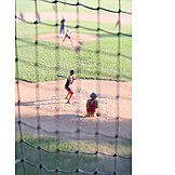 Boy, Net, Baseball
