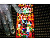 Finger, Hand, Church window