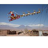 Christmas, Santa clause, Chile, Reindeer
