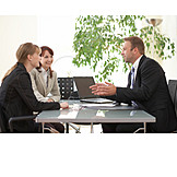 Business woman, Businessman, Meeting, Advice