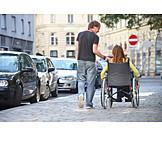 Freundschaft, Soziales, Betreuung, Rollstuhlfahrerin