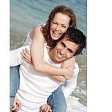 Couple, Happy, Holiday & Travel, Loving, Piggyback