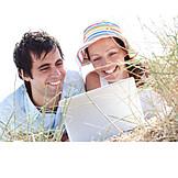 Couple, Enjoyment & Relaxation, Mobile Communication