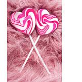 Love, Pink, Heart, Lollipop