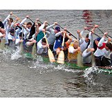 Success & Achievement, Teamwork, Rowboat