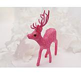 Christmas, Pink, Pink, Deer