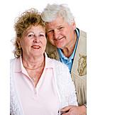 Over 60 Years, Senior, Couple, Silver Wedding