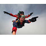 Action & Adventure, Flying, Parachutist, Parachuting