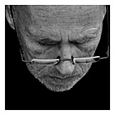 45-60 Years, Man, Glasses