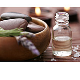 Wellness & Relax, Lavender, Aromatherapy Oil, Massage Stone