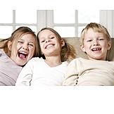 Boy, Child, Girl, Laughing, Naughty, Siblings
