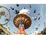 Motion & speed, Funfair, Chain swing ride
