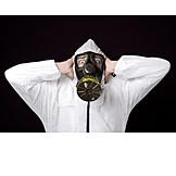 Gefahr & Risiko, Umweltverschmutzung, Gasmaske, Luftverschmutzung