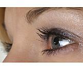 Eye, Make up, Eyelashes