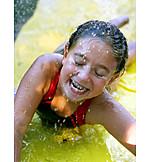 Girl, Action & Adventure, Wet, Swimming Pool, Sliding