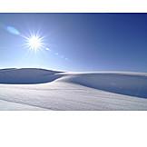 Sun, Winter Landscape, Snow
