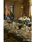 Restaurant, Place setting, Banquet