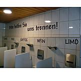 Humor & bizarre, Urinal, Men toilet