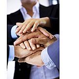 Togetherness, Teamwork, Hand, Business Partnership