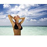 Woman, Enjoyment & Relaxation, Sea, Bikini