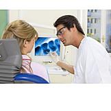 Zahnarzt, Zahnarztbesuch, Patientin