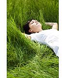 Junge Frau, Frau, Sorglos & Entspannt, Genießen