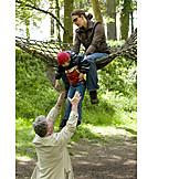 Togetherness, Family, Playground, Ropes course