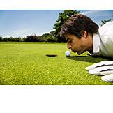 Golf, Blowing, Manipulation, Golfer