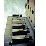 House, Balcony, Tenement