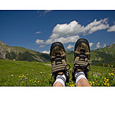 Resting, Relaxation & recreation, Hiking boots