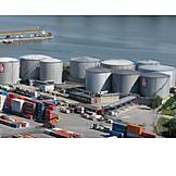 Logistics, Oil tank, Cargo port