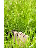 Young woman, Woman, Meadow, Enjoy