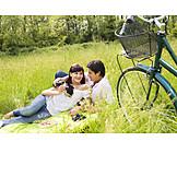 Couple, Picnic, Excursion