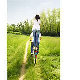 Love couple, Bicycle trip