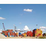 Harbor crane, Cargo container, Container handling