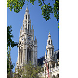 Vienna, Neo gothic style, Rathaus vienna