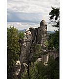 Rock, Elbe sandstone mountains, Bastion, Bastion bridge