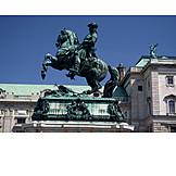 Vienna, Heros' square, Prinz eugen equestrian