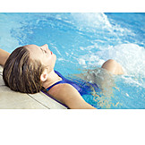 Frau, Wellness & Relax, Baden, Whirlpool