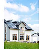 House, Solar energy, Power generation, Solar plant